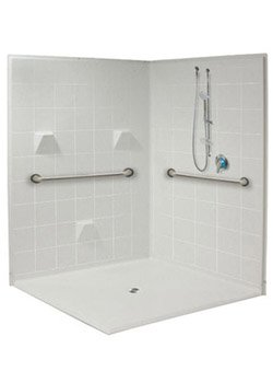 Accessible Corner Showers