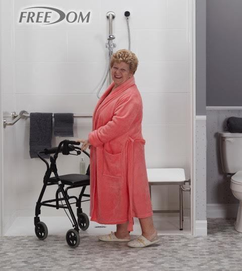ada code compliant wheelchair showers for handicapped accessibility